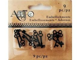 Art-C Tiny Key Embellishments, 9 Pieces #23661