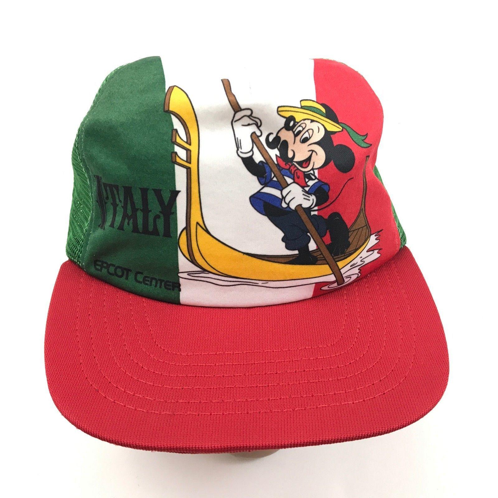 Vintage Mickey Maus Truckerhut Italien Epcot Zentrum Disney 1982 Union USA