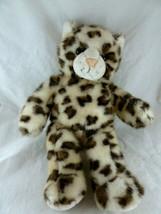"Build A Bear Sparkly Snow Leopard Cat Plush Toy 16"" - $8.90"