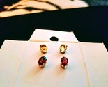 Citrine and garnet ss studs thumb155 crop