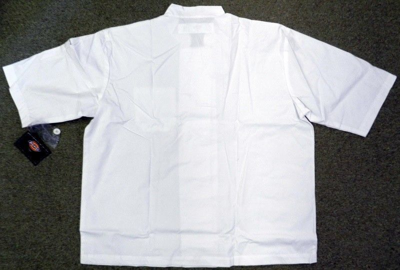 Dickies Chef Jacket L CW070315A Double Breasted Coat Button Front White S/S New