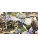 "Grey Wolf HaNdMaDe Window Valance Topper Cotton fabric 43""W x 15""L - $10.88"