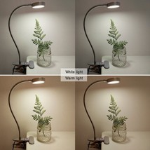 Clip On Desk Lamp Shade Angle Adjustable 2 Switches USB AC Adapter Metal... - $23.42