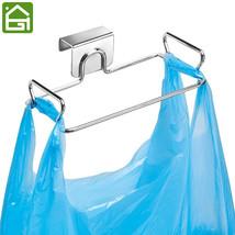 Stainless Steel Kitchen Hanger Storage Rack Cabinet Door Trash Organizer... - $24.44 CAD