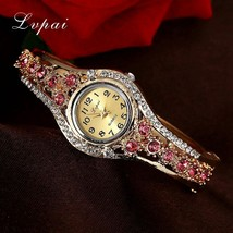 Lvpai® Luxury Watch Women Gold Flower Casual Quartz Crystal Dress Vintage Wrist image 2