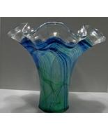 Vintage Italian Lavorazione Murano Italy Hand Blown Glass Vase  - $190.00