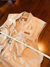 WFS KHAKI Beige fishing vest Size L 60% Cotton 40% Poly #186 image 9