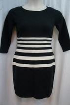 Ralph Lauren Dress Petite Sz PM Black White Cotton Sweater Dress Casual ... - $61.64