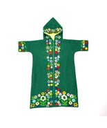 Vintage 1960s Baby Infant Sleepsack Jumpsuit Hooded Sleeping Shirt Green... - $48.50