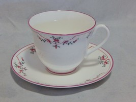 Royal Worcester Pink Petite Fleur Cup and Saucer Set - $29.70