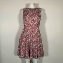 Maison Jules Dress Pink Floral Fit Flare Sz 4 NEW NWT 259 - $20.85