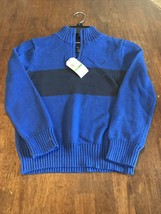 Nautica Sweater Blue And Black Boys Size 6 NWT - $19.80