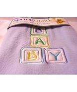 "Balloons Baby Blanket SPRINGMAID NEW Crib Fleece Blue Springs 30"" x 40"" - $34.60"