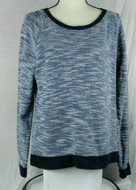 Gap Womens Sweater L Large Blue Long Sleeve Crew Neck Cable Knit - $16.99