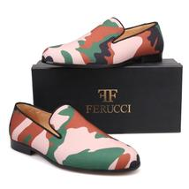 FERUCCI Camouflage  Custom-made Slippers Loafers flats - $149.99