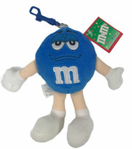 M&M's Blue Clip On Plush Key Chain Hanger 2003 Hard to Find - $14.84
