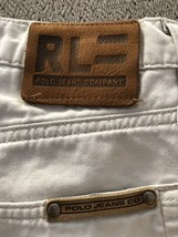 Ralph Lauren Polo Jeans Co Mens Sz 32 x 32 Relaxed Fit Pants 5 Pocket Light Tan - $46.39