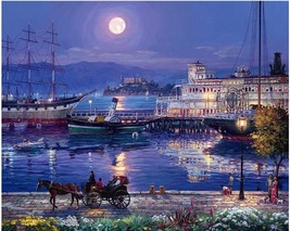 Night View 16X20 Inch Paint By Number Kit DIY Acrylic Painting on Canvas Unframe - $8.99