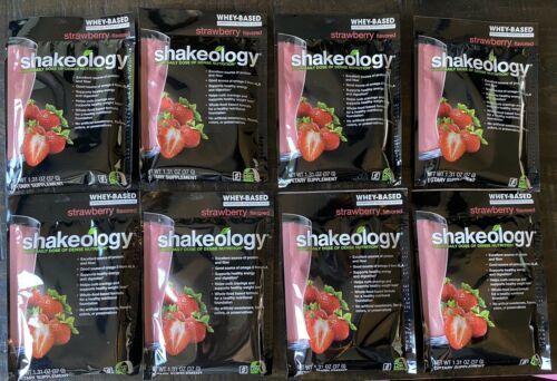 Exp 7/2021* (8) Packets Shakeology Strawberry Protein Powder Beachbody  - $44.54