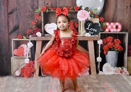 Valentines Day Tutu, Pink Valentines Day Hearts Tutu, Cupid Tutu Dress - $60.00+