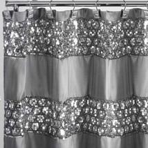 Sparkly Shower Curtain Unique Sequin Fabric Bling Sparkle Gorgeous Bathr... - $42.00