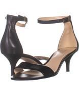 Nine West Leisa Ankle Strap Sandals, Black 739, Black, 7 US - $23.03