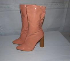Qupid Parma-01X Blush Bootie Patent Style Body Con Size 8M  - $25.69