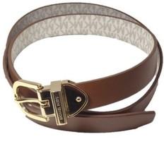 Michael Kors Reversible Signature Logo Vanilla Belt Gold Buckle, Medium ... - $30.00