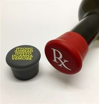 Wine lover GIFT Silicone Cap Seals tight for wine Bottle Rx funny stocking  - $6.92