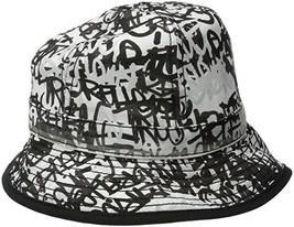 True Religion men  39 s Graffiti Print Bucket Hat in Black White Size 7df545f551e3