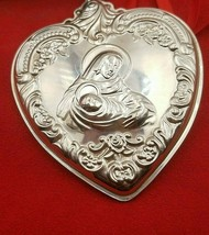 1993 Sterling Silver Heart Christmas Ornament 2nd in Series In Box #8265 - $69.00