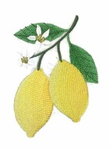 Nature Weaved in Threads, Amazing Fruits[Lemons] [Custom and Unique] Embroidered - $12.87