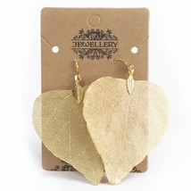 Earrings - Heart Leaf - Gold - $18.89