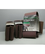"Lot 4 Craftsman, 4"" x 36"" Sanding Belt Coarse 50 grit For Heavy Removal ... - $23.75"