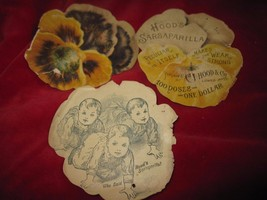 Vintage Hood's Sarsaparilla 3 Ad's Cards - $10.36