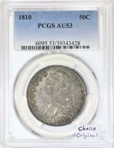 1810 Capped Bust Half Dollar PCGS AU-53; Choice Original - $1,286.99