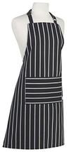 Now Designs Basic Cotton Kitchen Chef's Apron Stripe Black - $17.89