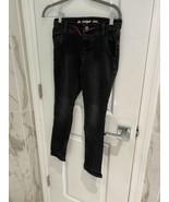 Cat & Jack Boy's Skinny Total Flex Flexible Drawstring Black Jeans Size 10  - $11.18