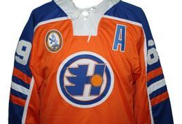Custom Name # Halifax Highlanders Retro Hockey Jersey Orange Glatt #69 Any Size image 3
