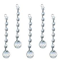 H&D Clear Crystal Suncatcher Hanging Chandelier Ball Prisms Drop Feng Shui Penda