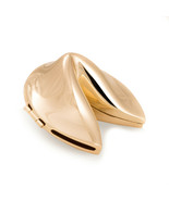 Bey-Berk Gold Plated Chinese Fortune Cookie with Hinge Storage Case - $21.95