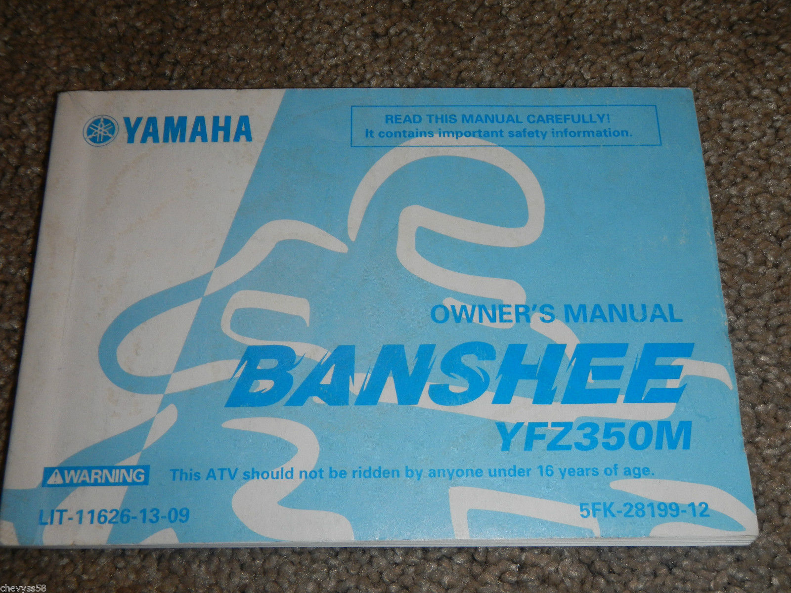 2000 00 yamaha yfz350 yfz 350 banshee owner and 50 similar items rh bonanza com yamaha banshee service manual download yamaha banshee service manual free download