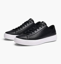 Converse CTAS Modern Ox Leather Low Top Mens 157573C Black/White Size 12 - $74.99