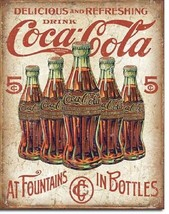 Coca Cola Coke 5 Cent Bottle Advertising Vintage Retro Wall Decor Metal ... - $15.99