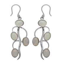 Rare Ethiopian Opal Gemstone 925 Sterling Silver Hook Earring For Girl S... - $67.91