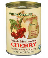 Omena Organic Montgomery Cherry Pie Filling, 21 oz Can, Case of 12 fruit... - $79.99