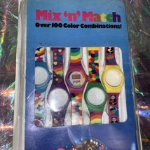 Rare Gem Vintage 80s 90s Lisa Frank Mix & Match Watch 5 Swappable Wristbands image 2