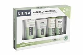 NENA Natural Skincare Kit | 4-Piece Daily Skin Essentials for Women & Men - for