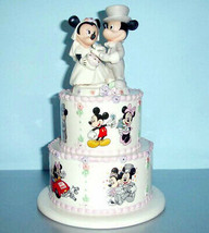 Lenox Disney Mickey Minnie's Wedding Day Wishes Atop Tiered Wedding Cake... - $124.90