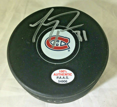 CAREY PRICE / AUTOGRAPHED MONTREAL CANADIENS LOGO NHL HOCKEY PUCK / COA image 1